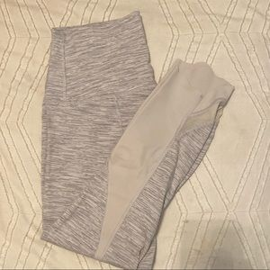 Lululemon leggings! Speckled white and cropped!